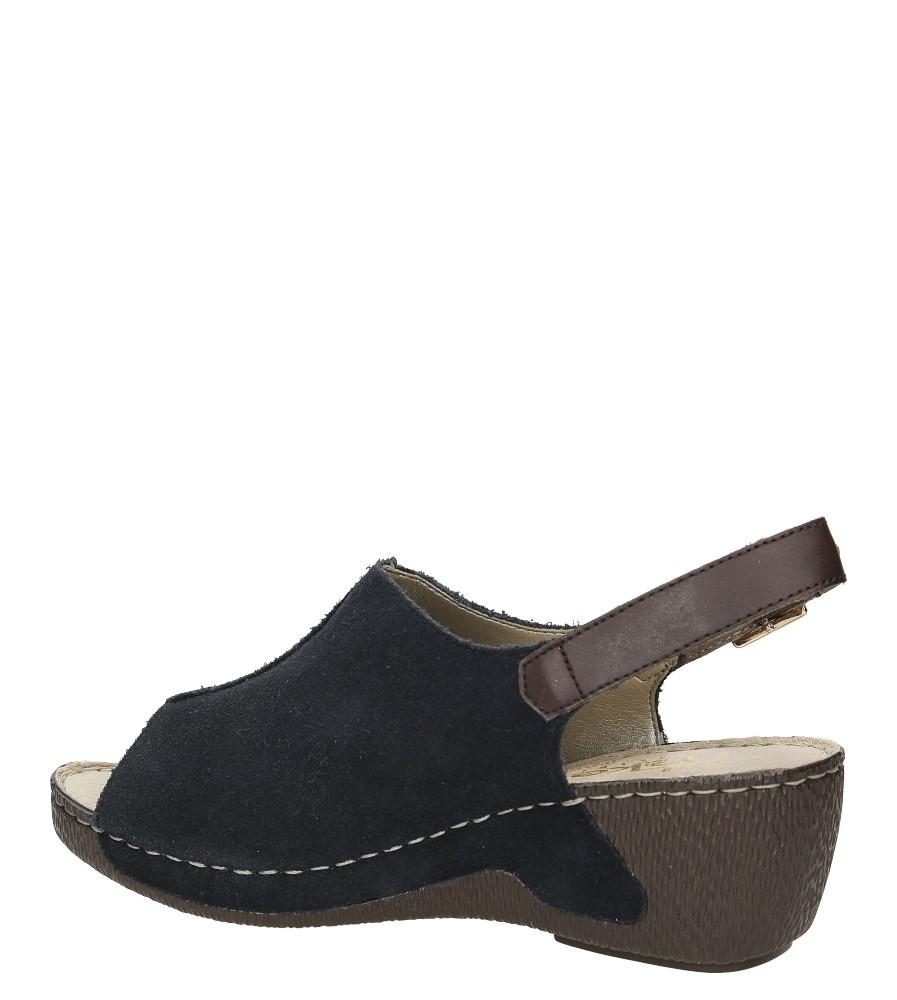 Sandały zamszowe na koturnie Rieker 65660 wysokosc_obcasa 6 cm
