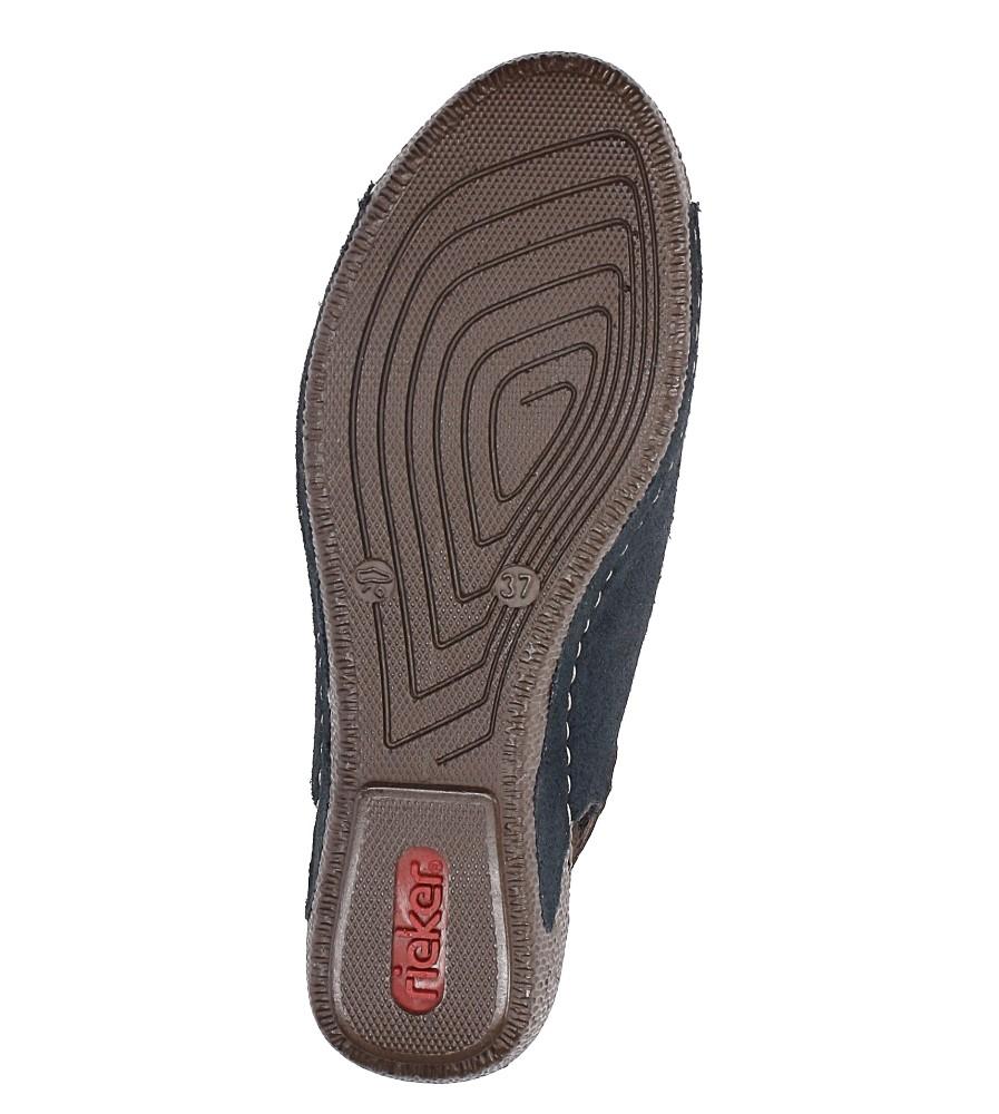 Sandały zamszowe na koturnie Rieker 65660 wys_calkowita_buta 14 cm