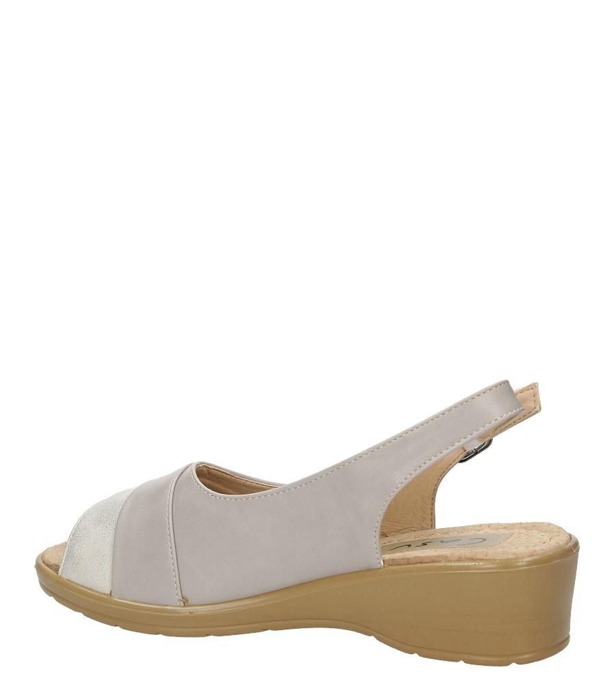 Sandały Casu B202 kolor szary