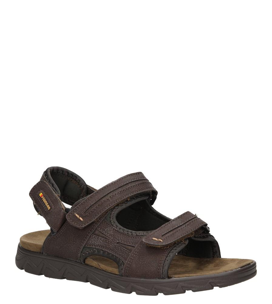 Męskie Sandały Casu 7276 brązowy;;