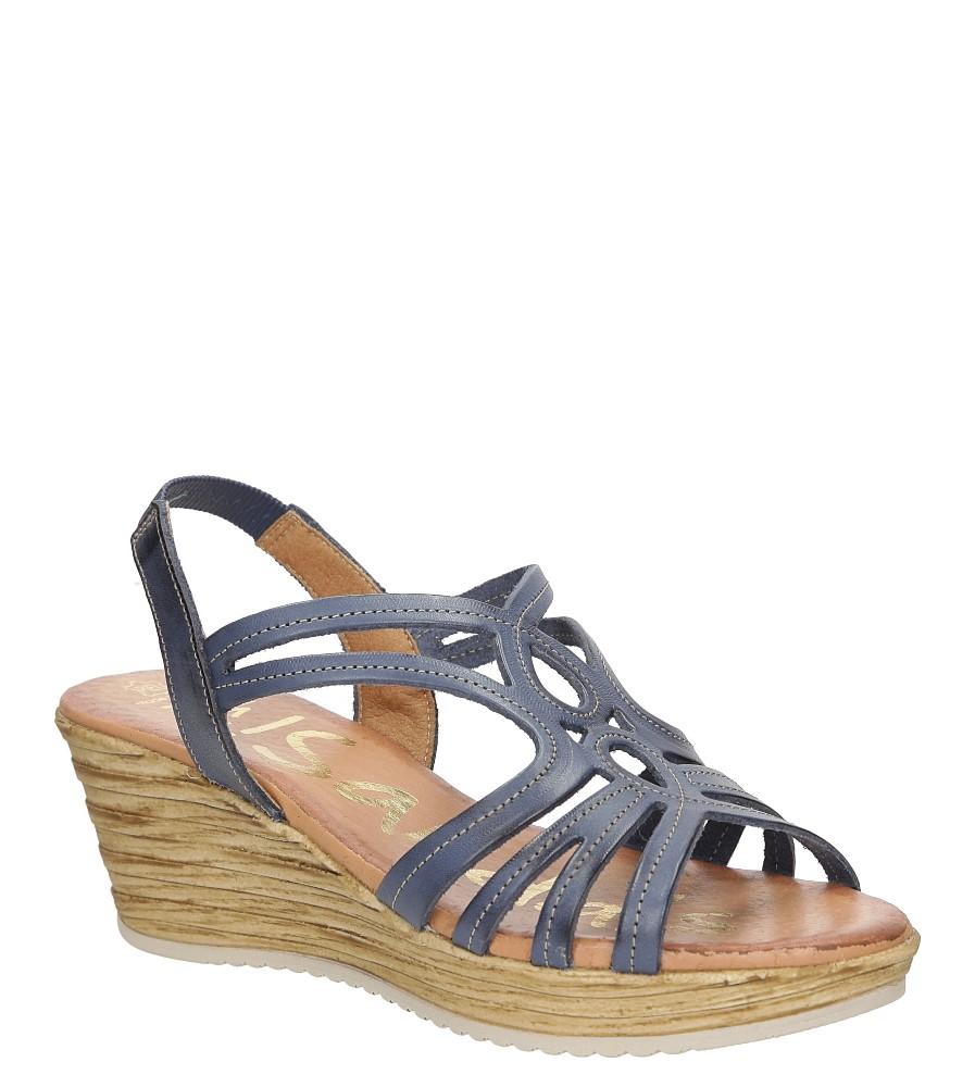 Sandały skórzane na koturnie Oh My Sandals 3480