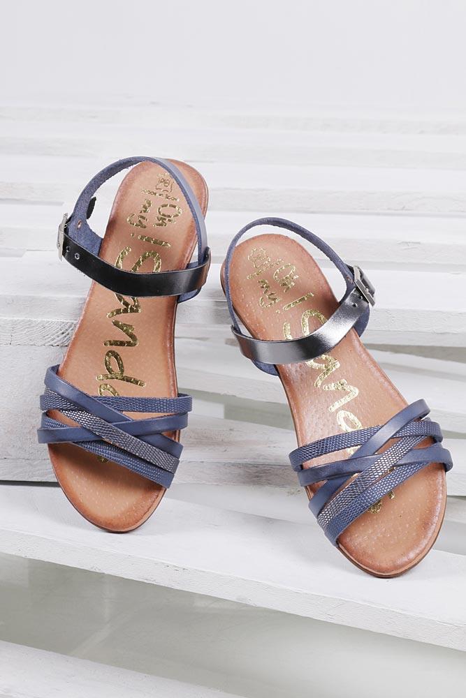 Sandały skórzane Oh My Sandals 3440