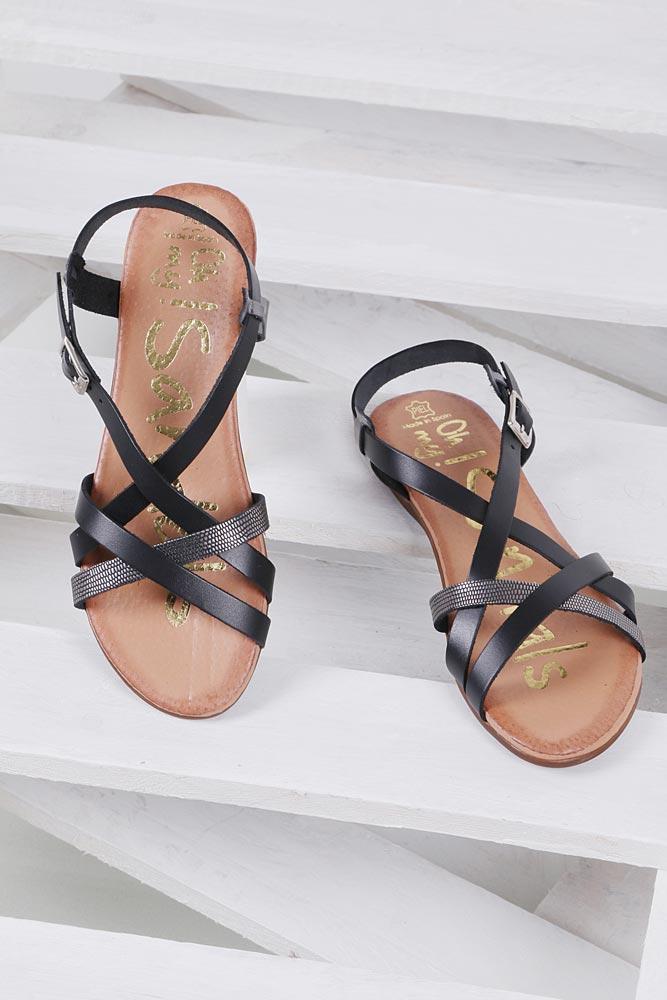 Sandały skórzane Oh My Sandals 3439