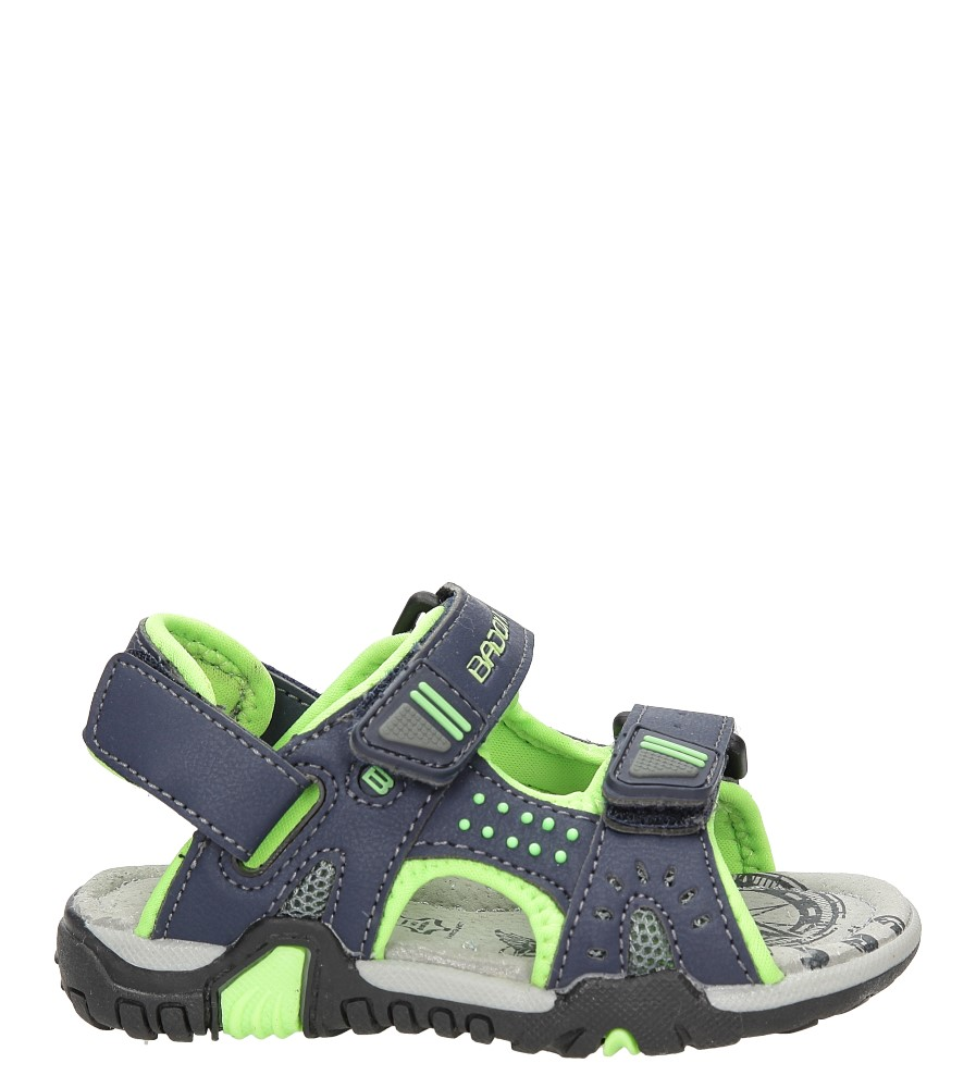 Dziecięce Sandały na rzepy Casu 3SD2329 niebieski;;