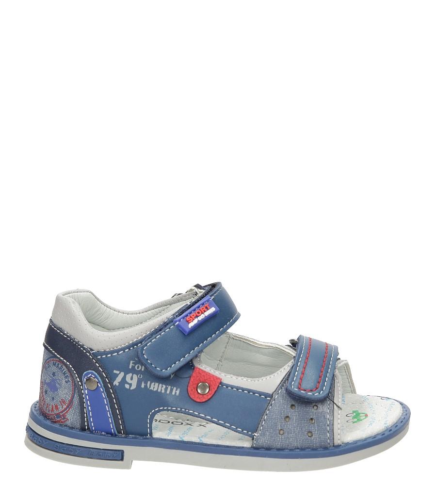 Dziecięce Sandały na rzepy Casu 3SD459 niebieski;;
