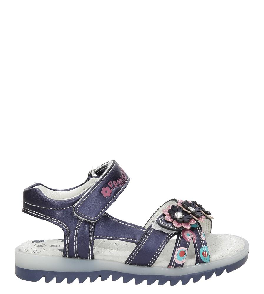 Dziecięce Sandały z kwiatkiem na rzepy Casu 3SD508 niebieski;;