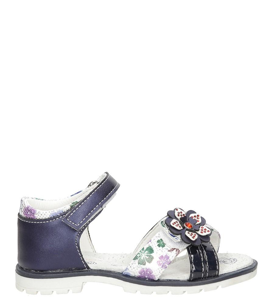 Dziecięce Sandały z kwiatkiem na rzepy Casu 3SD497 niebieski;;