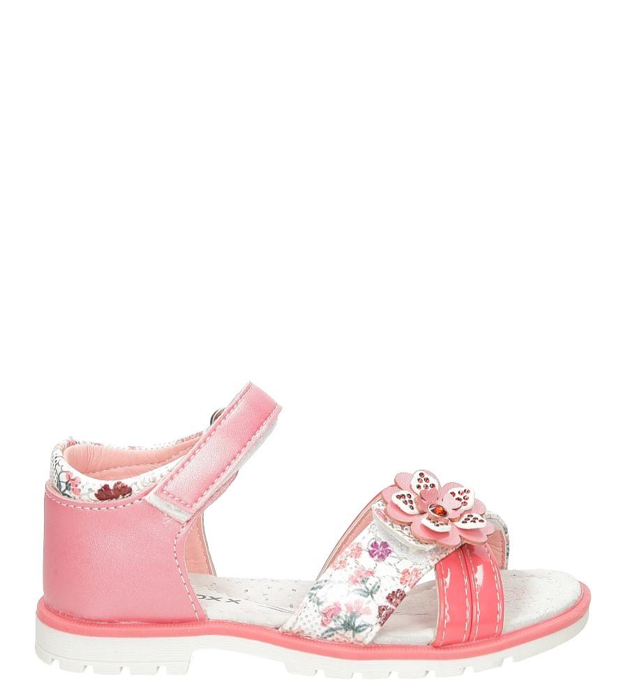Sandały z kwiatkiem na rzepy Casu 3SD497