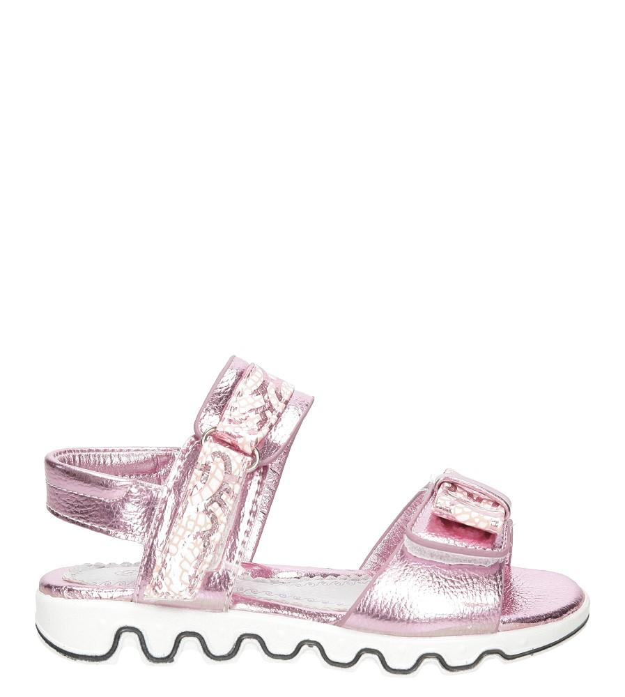 Dziecięce Sandały z kokardą na rzepy Casu 3SD503 różowy;;