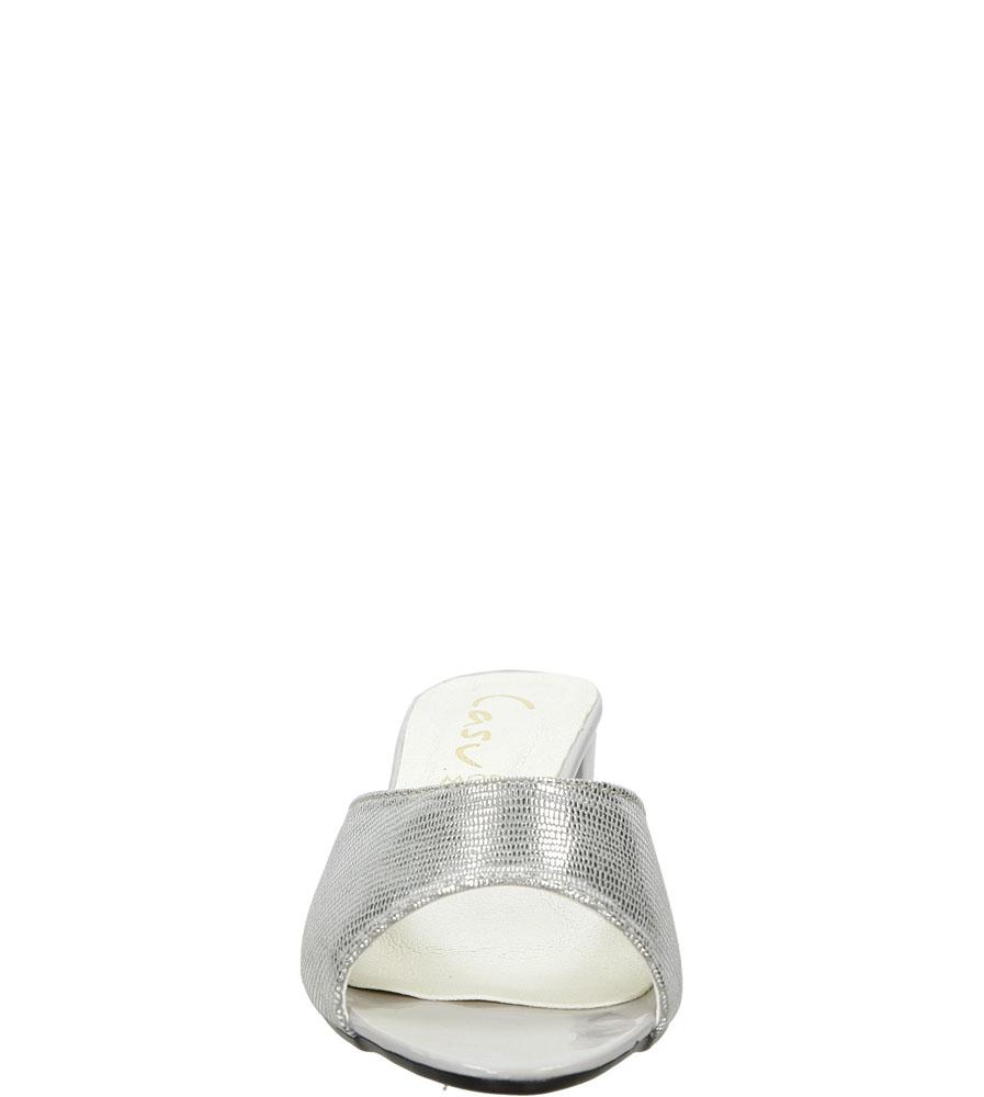 Klapki Casu 025 kolor srebrny
