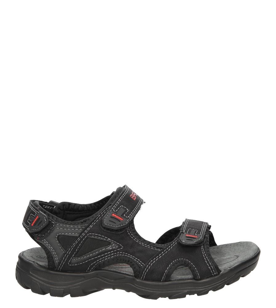 Męskie Sandały Casu 7SD9036 czarny;;