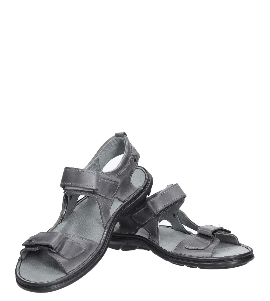 Sandały skórzane na rzep Casu 277 wysokosc_platformy 1 cm