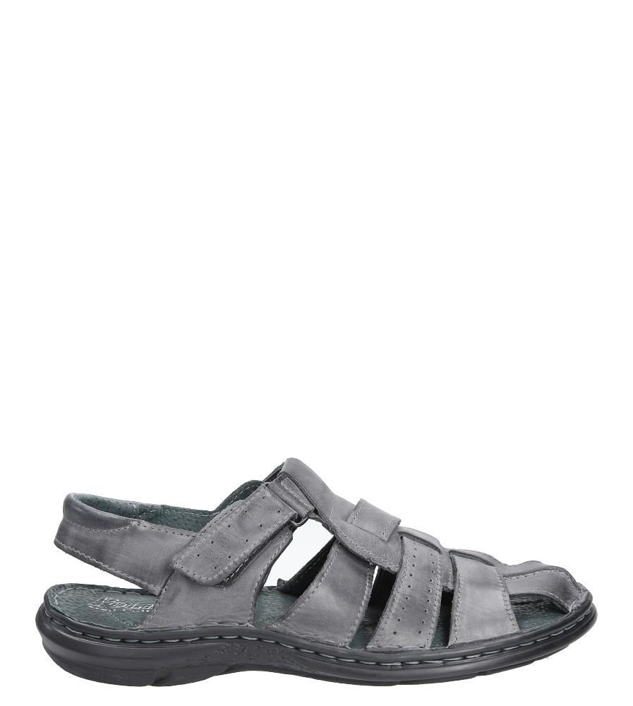Sandały skórzane na rzep Casu 211 model 211/140