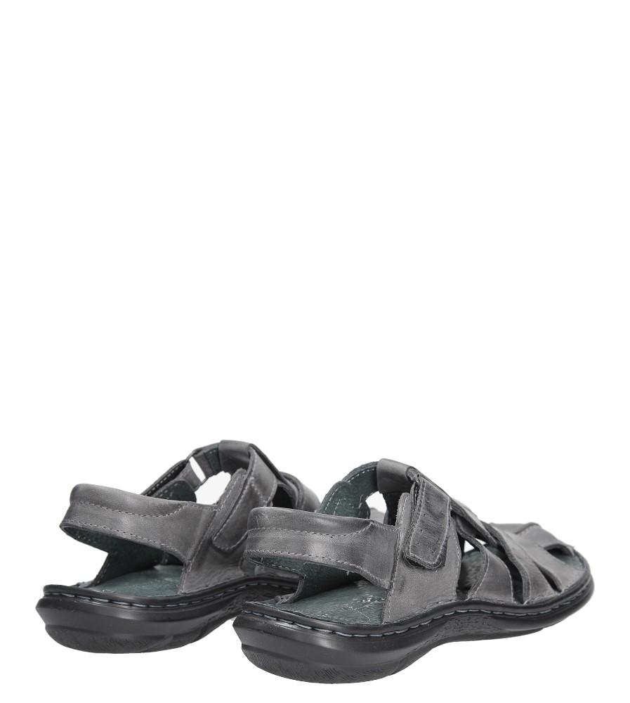 Sandały skórzane na rzep Casu 211 wysokosc_obcasa 3.5 cm