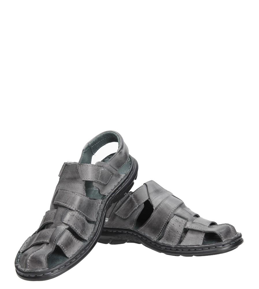 Sandały skórzane na rzep Casu 211 wysokosc_platformy 1 cm