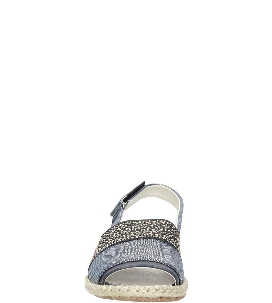 Sandały z cyrkoniami Jezzi MR1631-2 kolor niebieski