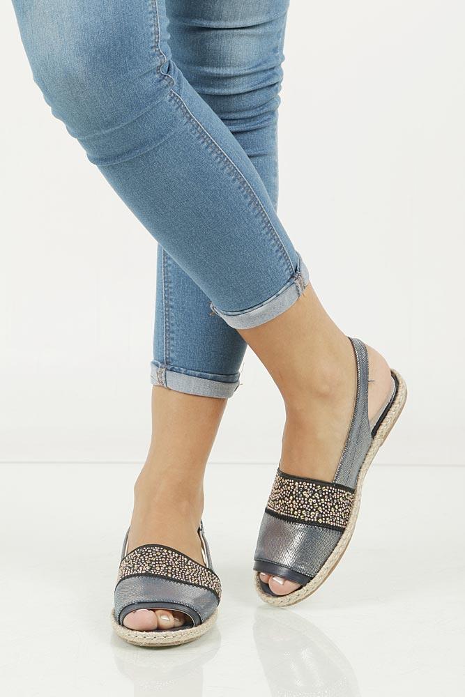 Sandały z cyrkoniami Jezzi MR1631-2 wkladka skóra