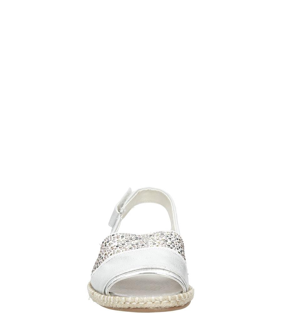 Sandały z cyrkoniami Jezzi MR1631-2 kolor srebrny