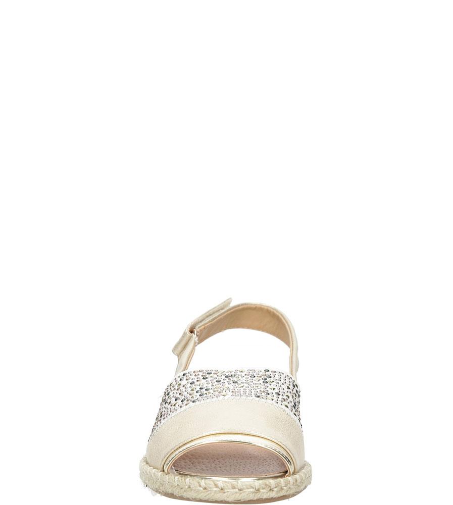 Sandały z cyrkoniami Jezzi MR1631-2 kolor złoty
