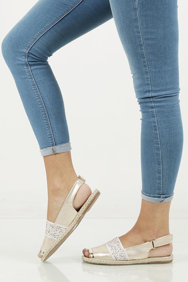 Sandały z cyrkoniami Jezzi MR1631-2 material_obcasa sznurkowe tworzywo