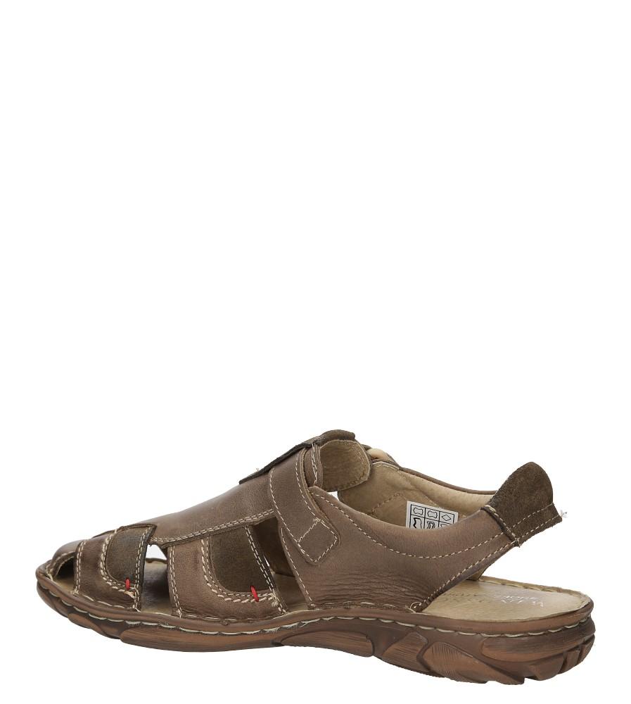 Sandały skórzane Windssor 506 kolor brązowy