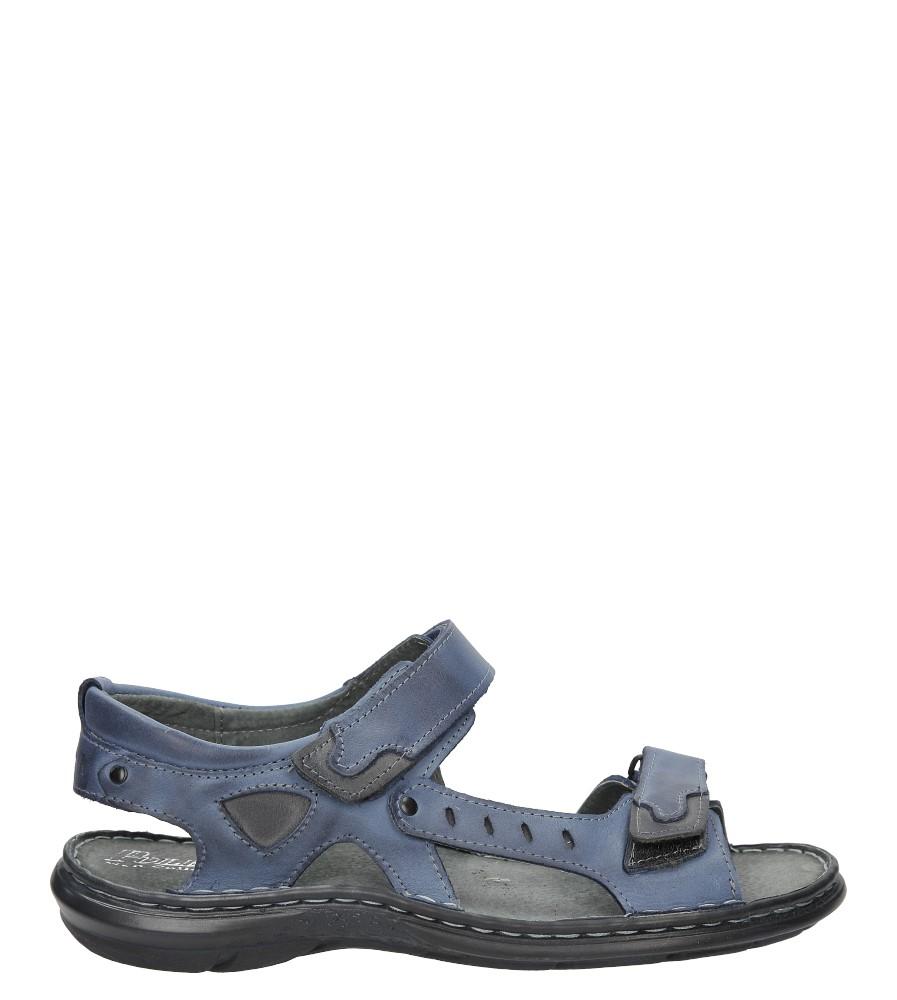 Sandały skórzane na rzep Casu 277 model 277/BLU/140