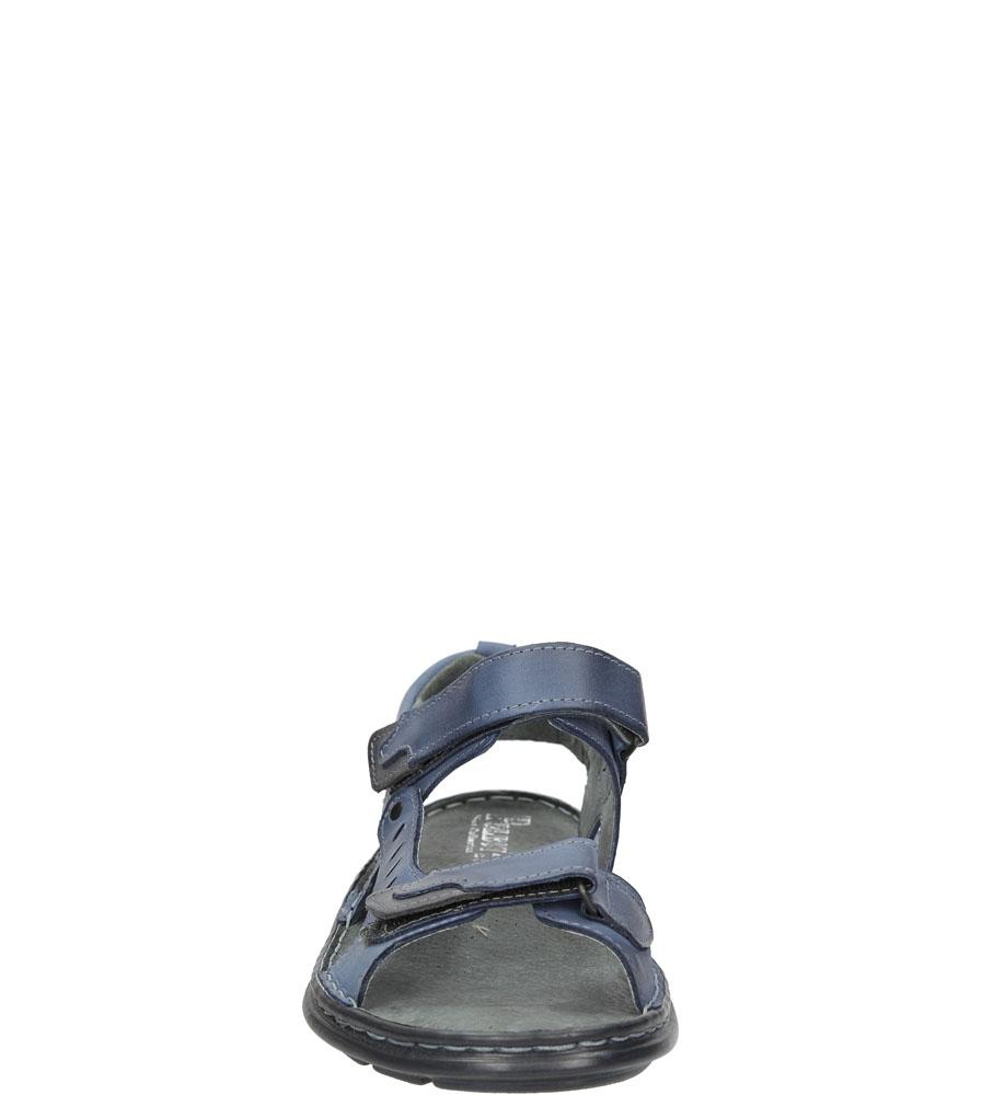 Sandały skórzane na rzep Casu 277 sezon Lato