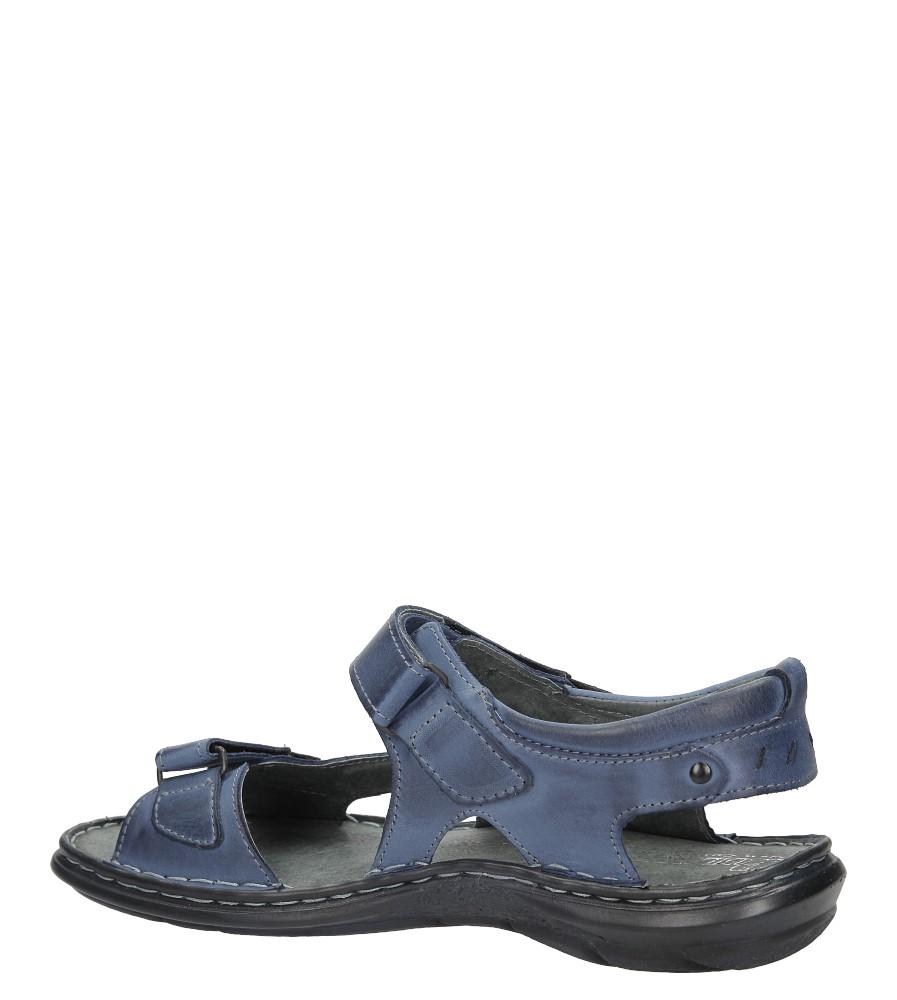 Sandały skórzane na rzep Casu 277 kolor niebieski