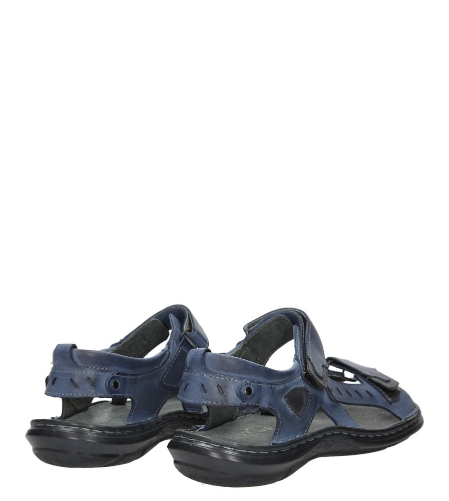 Sandały skórzane na rzep Casu 277 wysokosc_obcasa 3 cm