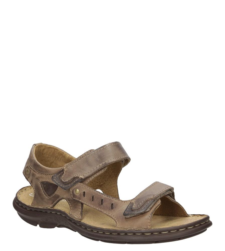 Sandały skórzane na rzep Casu 277 producent Casu
