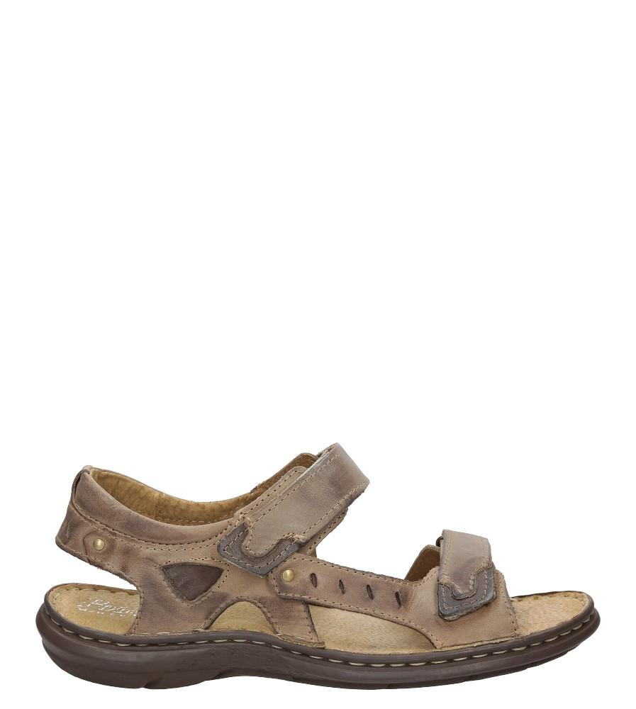 Sandały skórzane na rzep Casu 277 model 277/08/908