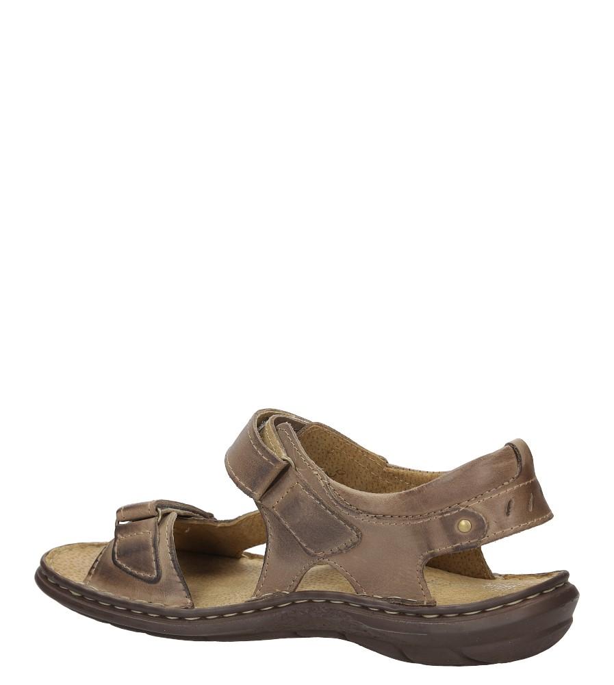 Sandały skórzane na rzep Casu 277 kolor brązowy