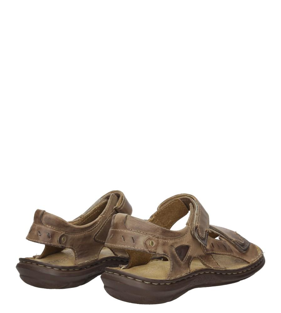Sandały skórzane na rzep Casu 277 wysokosc_obcasa 3.5 cm