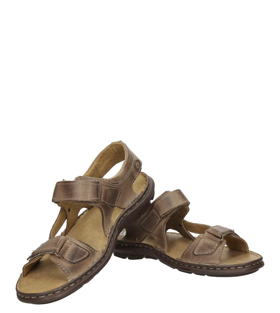 Sandały skórzane na rzep Casu 277 wysokosc_platformy 1.5 cm