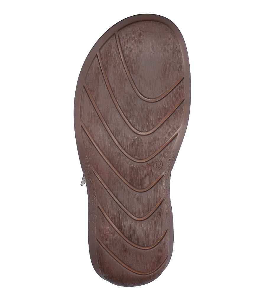Sandały skórzane na rzep Casu 277 wierzch skóra
