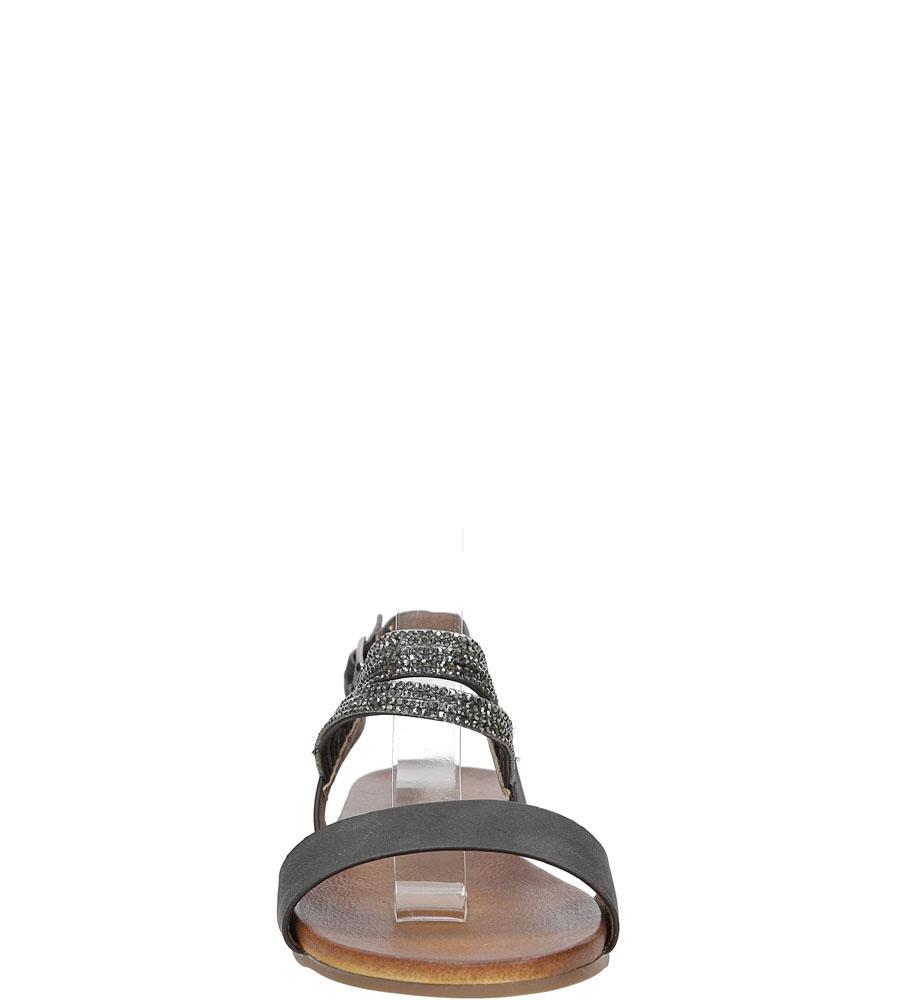 Sandały z cyrkoniami S.Barski 541-3A kolor czarny