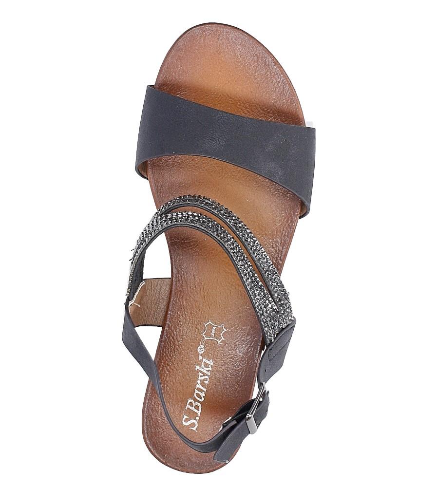Sandały z cyrkoniami S.Barski 541-3A wysokosc_platformy 1 cm