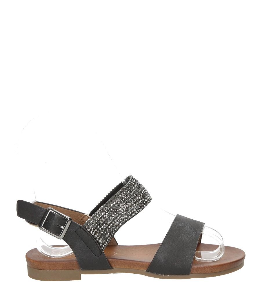Sandały z cyrkoniami S.Barski 541-3A/DZ czarny