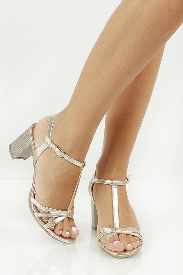 Sandały skórzane na słupku Sala 5087
