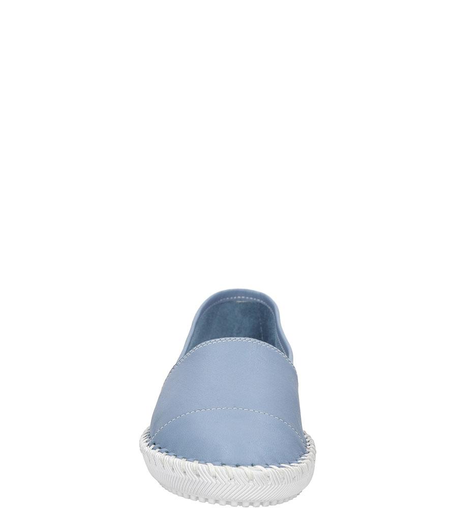 Półbuty skórzane Casu SANDRA01 kolor jasny niebieski