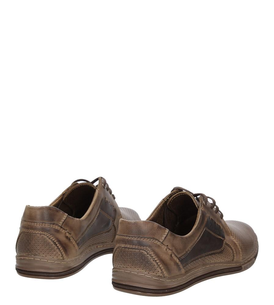 Półbuty skórzane sznurowane Casu 395P wys_calkowita_buta 11.5 cm