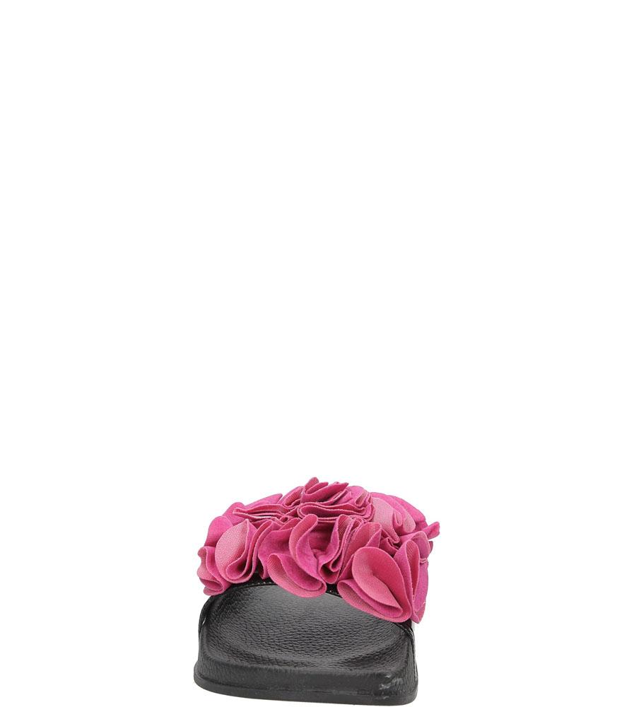 Klapki z ozdobą Casu 515-26 kolor czarny, fuksja
