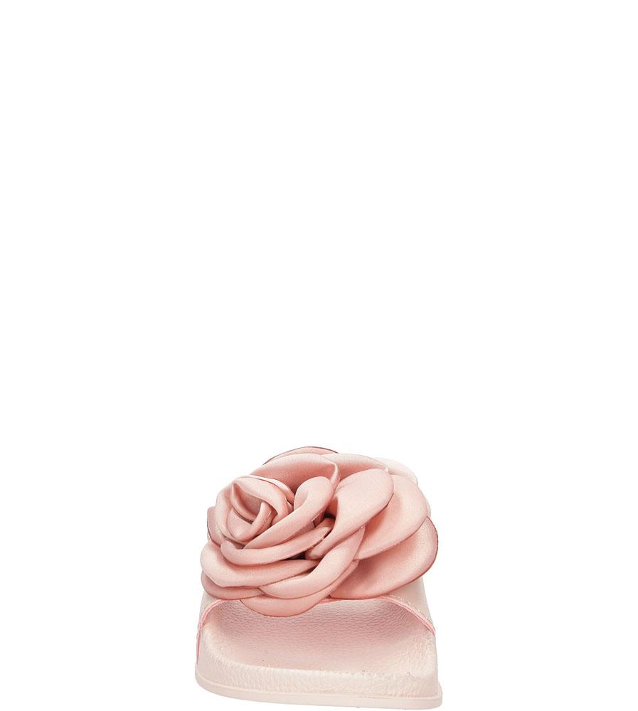 Klapki z różą Casu 515-27 kolor różowy