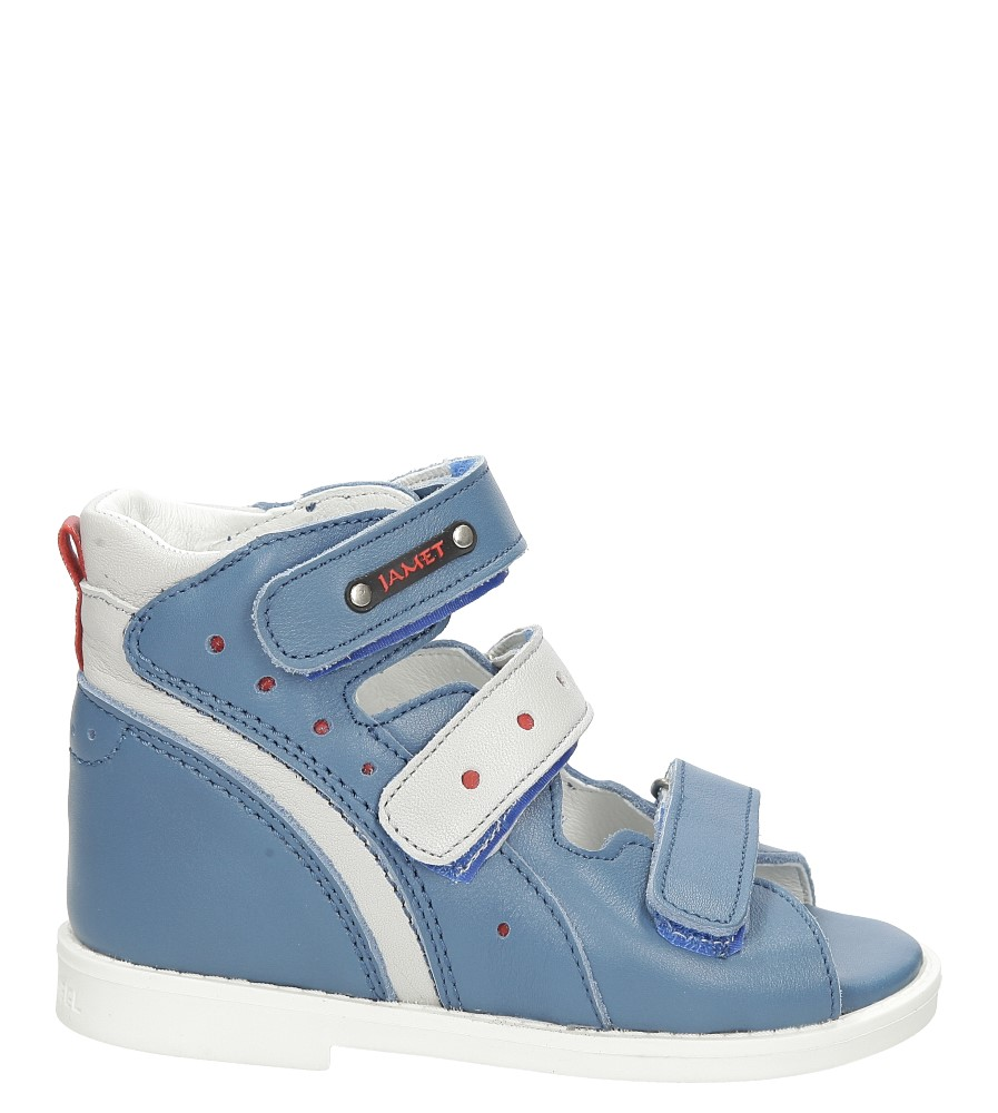 Dziecięce Sandały ortopedyczne skórzane na rzepy Jamet 207/OR niebieski;;