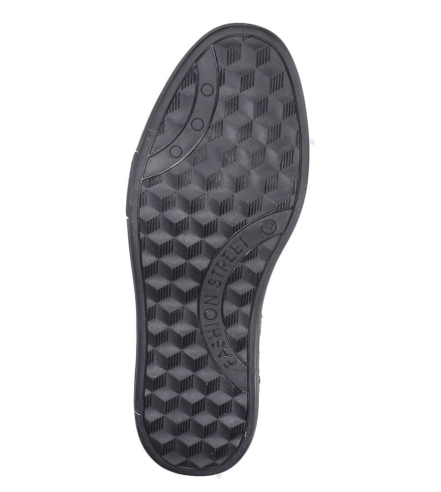 Półbuty skórzane sznurowane Casu 402P wys_calkowita_buta 14 cm