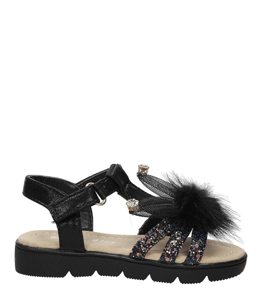 Dziecięce Sandały brokatowe z uszkami Casu 20129-2 czarny;;