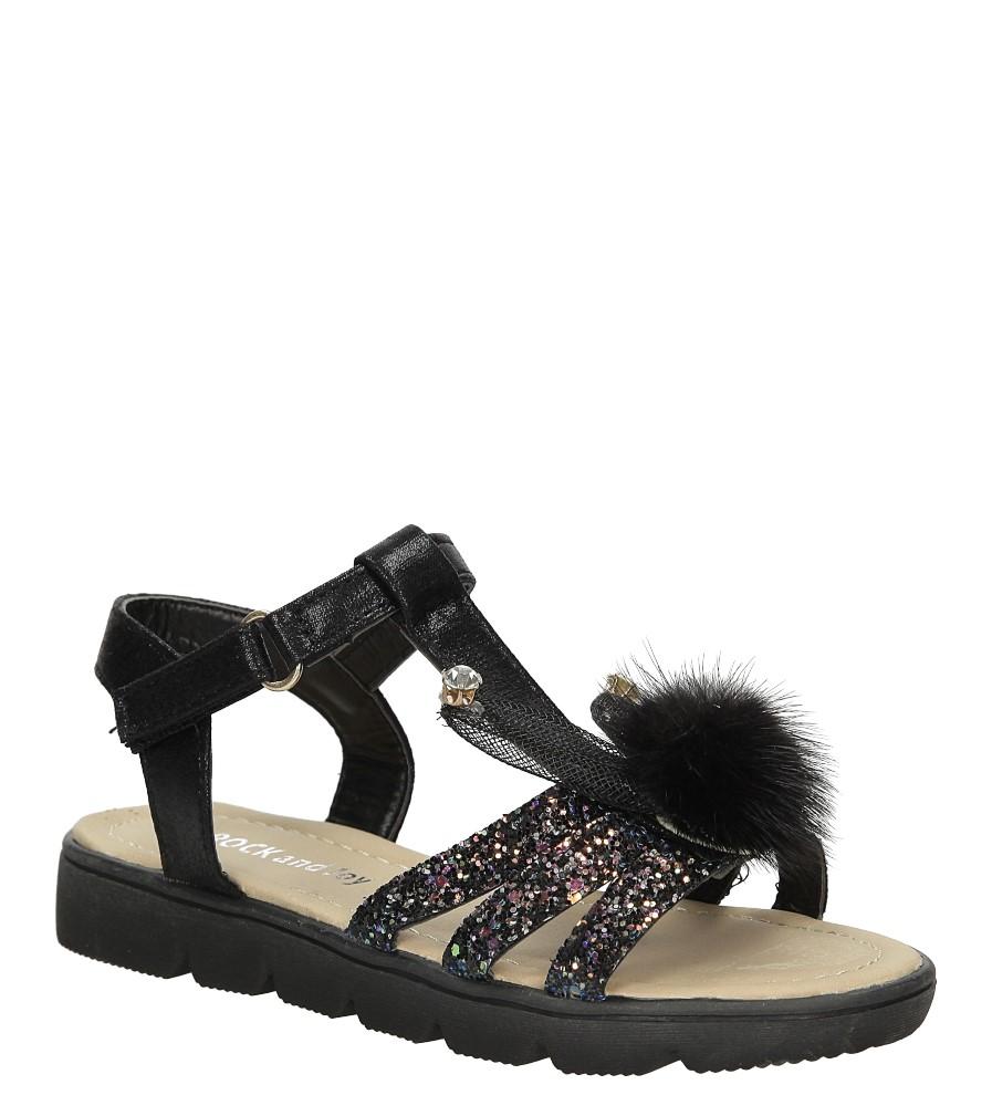 Sandały brokatowe z uszkami Casu 20129-3