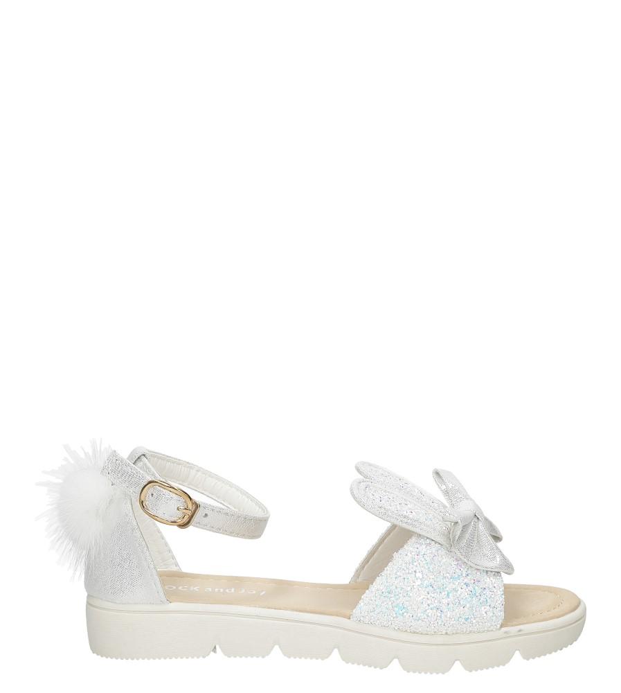 Dziecięce Sandały z uszkami Casu 20132-3B biały;;