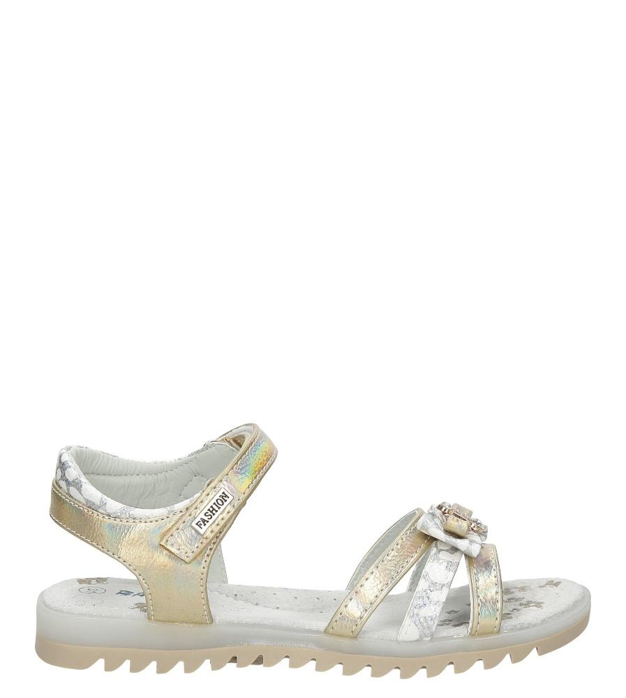 Sandały na rzepy z kokardą Casu BS8003C