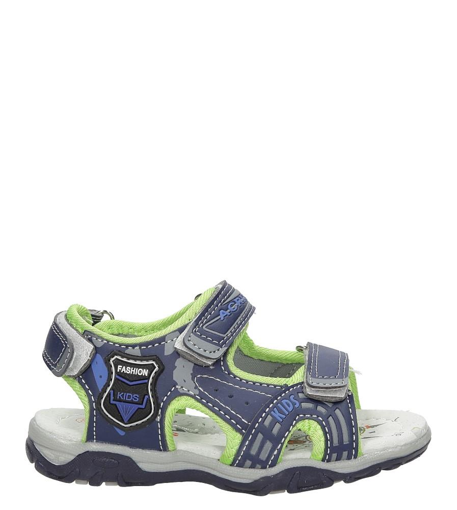 Dziecięce Sandały na rzepy Casu HT593D niebieski;;